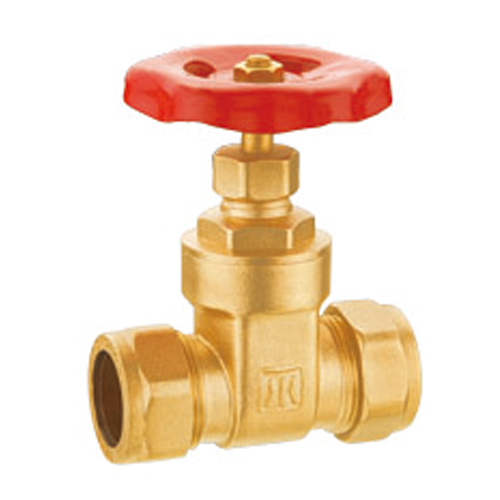 J1006 brass gate valve with compression