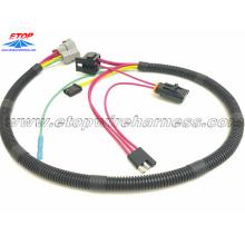 chicotes de fios automáticos com conector de bateria de reboque plano de 3 pinos