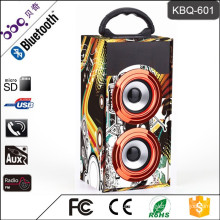 BBQ KBQ-601 10W 600mAh Wooden Rechargeable Portable Speaker