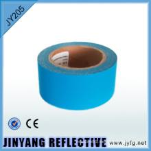 hi vis blue glow in dark reflective 100% polyester fabric glow in dark