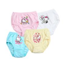 Hello Kitty 100 meninas de algodão calcinhas respirável Girls Underwear