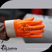 SRSAFETY Перчатки из ПВХ с перфорированным перфорированным покрытием Перчатки из ПВХ Перчатки для безопасности Перчатки для силиконовых перчаток