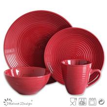16PCS Swirl Stoneware Dinner Set