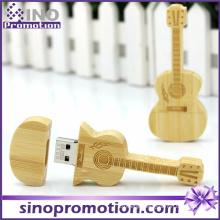 Wholesale Miniature Wooden Guitar USB Flash Drive 8GB