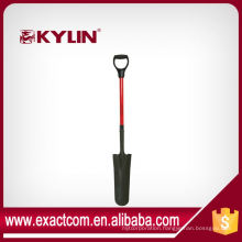 Forged Garden Stainless Steel Drain Spade With Fiberglass Handle