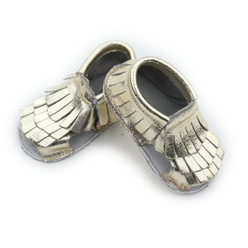 Hot Sale Gold Genuine Leather Sandals Baby Casual