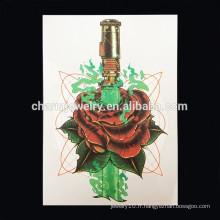 OEM Vente en gros fleur tatouage tatouage main temporaire tatouage tatouage bras femme W-1020
