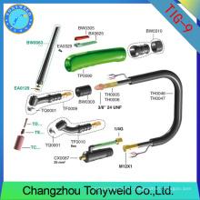 Wp9 torche de soudage à gaz refroidie par air tig accessoires
