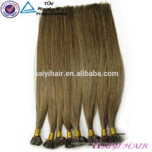 Cutícula alineada ruso 1g / strand Keratin Fusion Flat Tip extensión del pelo