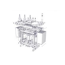 Transformador de distribuição imerso em óleo de 30kVA 15kV