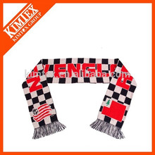 Knitted acrylic jacquard knitting pattern scarf