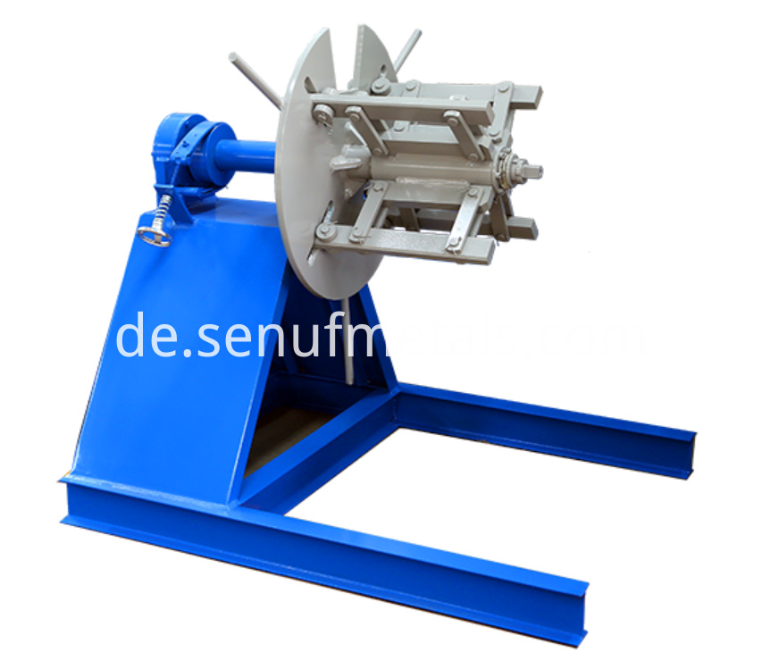 ridge cap 3 tons manual decoiler
