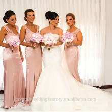 Wholesale Good Quality New Cheap Lace formal Long Sheath Mermaid Bridesmaid Dress with Straps LB32
