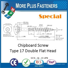 Fabriqué à Taiwan Double Flat Head Torx Drive Vis à aggloméré spécial Screw Type 17 Screw
