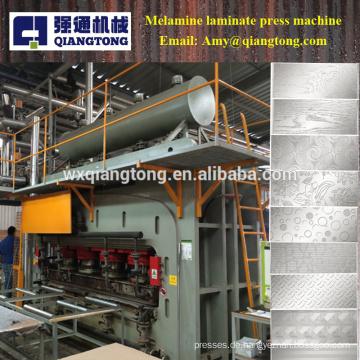 Doppelseiten-Holzplatte Melamin-Laminat-Heißpressmaschine