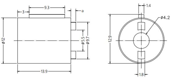 Barrel Damper Drawing For Auto Car Portable Ashtray