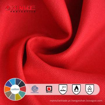 Vestuário 100% algodão tecido resistente ao fogo e vestuário de trabalho