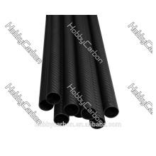 Rolle eingewickeltes Carbonfaser-Rohr 3K 12 * 14 * 1000mm Mattende