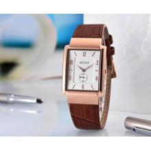 Baijia unisex alta qualidade pulseira de couro quart relógio