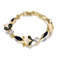 Art- und Weisestein-Frauen-Armband-18k Gold überzogene Armband-Schmucksachen