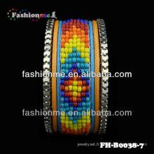 2014 nouvelle tendance bracelet cuir