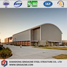 Gimnasio de estructura de acero ligero con techo de arco