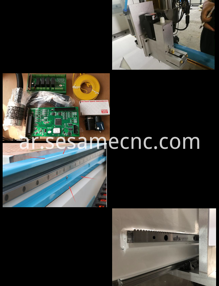 5x10ft ccd edge cutting oscillating knife cnc router