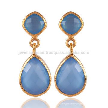 Boucles d'oreille en or et en or 18 carats