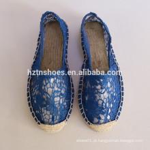 2016 sapatas de lona do desenhista para o deslizamento da lona das sapatas do espadrille da mulher em sapatas fabricante