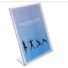 Support de signes en acrylique vertical clair et oblique