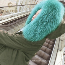 Different sizes real fur coat for women