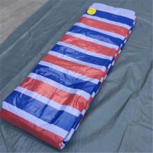 White Blue Stripe PE Tarpaulin Wholesale