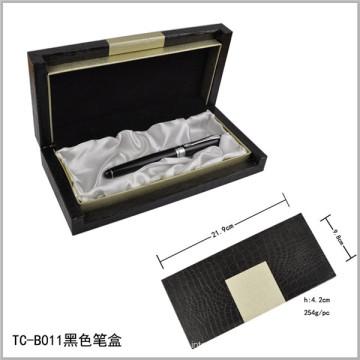Heavy Black Laser Engraved Logo Pen Set Box