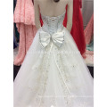 Luxury Heavy Hand Made Beaded Sweatheart Long Train Ball Gown Ivory Wedding Dress Made in China A099