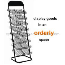 Kommerzielle Werbung Metal Wire Zeitung Display Stand Rack