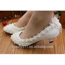 Printemps et été, nouvelles chaussures mariées à la mode blanches pour la fête d'anniversaire, robe de mariage, chaussures pour femmes WS010