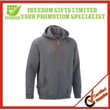 Promotional CVC Jacket Fleece Hoody with Zipper