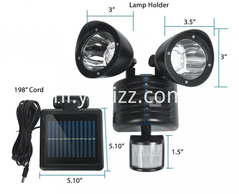 22LED Waterproof Double - Head Spotlight