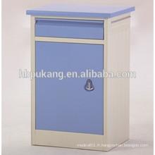 Cabinet de lit médical en métal D-7 pour hôpital