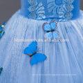 2016 new fashion Light blue color movie cosplay child princess dress wholesale