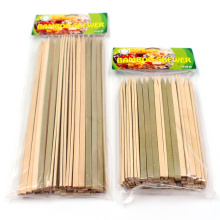 Best selling disposable eco friendly kebab bamboo flat skewer bbq