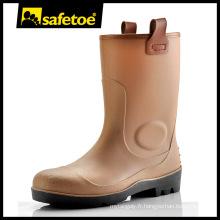 Gum boot, bottes en acier inoxydable, gomme de sécurité W-6002B
