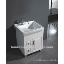 2013 white plywood bathroom laundry cabinet