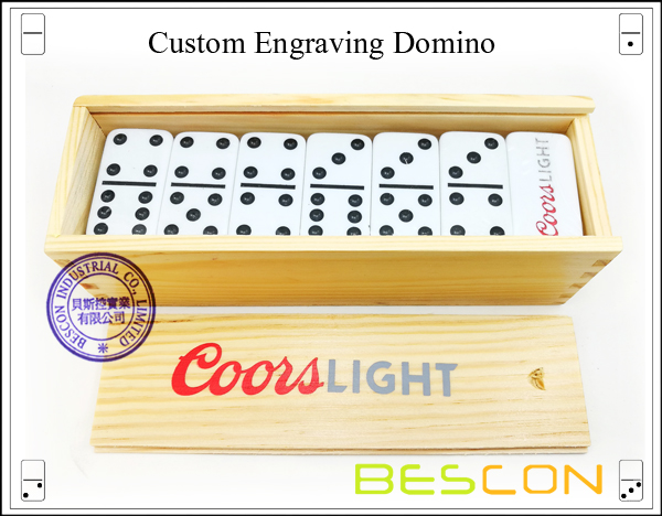 Custom Engraving Domino-1