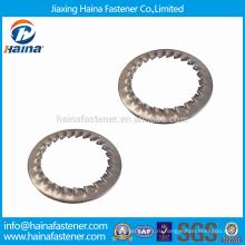 Stcok DIN6798 нержавеющая сталь зубчатые шайбы с внутренними зубьями