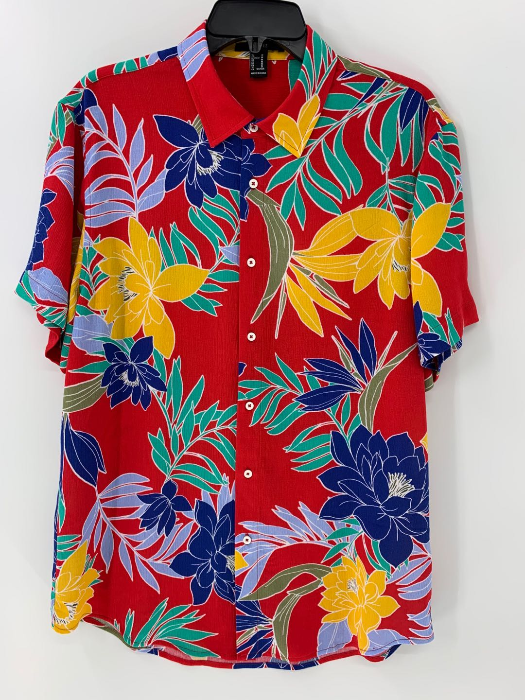 Men's Tropical Floral Print Shirt