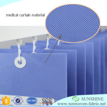 Tejido no tejido PP Spunbonded para cortinas médicas