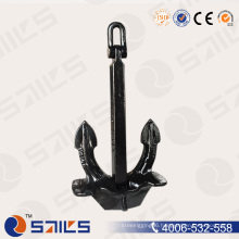 Black High Holding Power Boat Rigging Offshore Anchor
