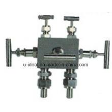 Distribuidor de cinco válvulas Manifold de três válvulas Manifold de válvulas