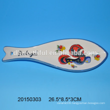 Cute fish shaped ceramic spoon for wholesale
